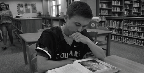 Freshman Declan Boyle represents those students who struggle to balance school work with sports.