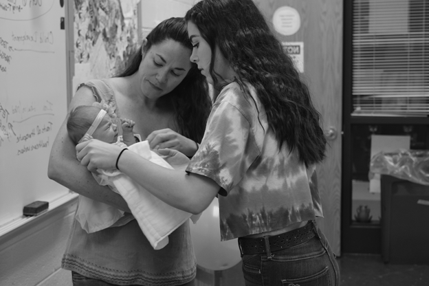 Students in the Child Development class get to experience what it is like to be responsible for a baby.