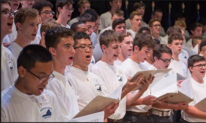 Senior Jack Tessier sang in the Boys State chorus over the summer.
