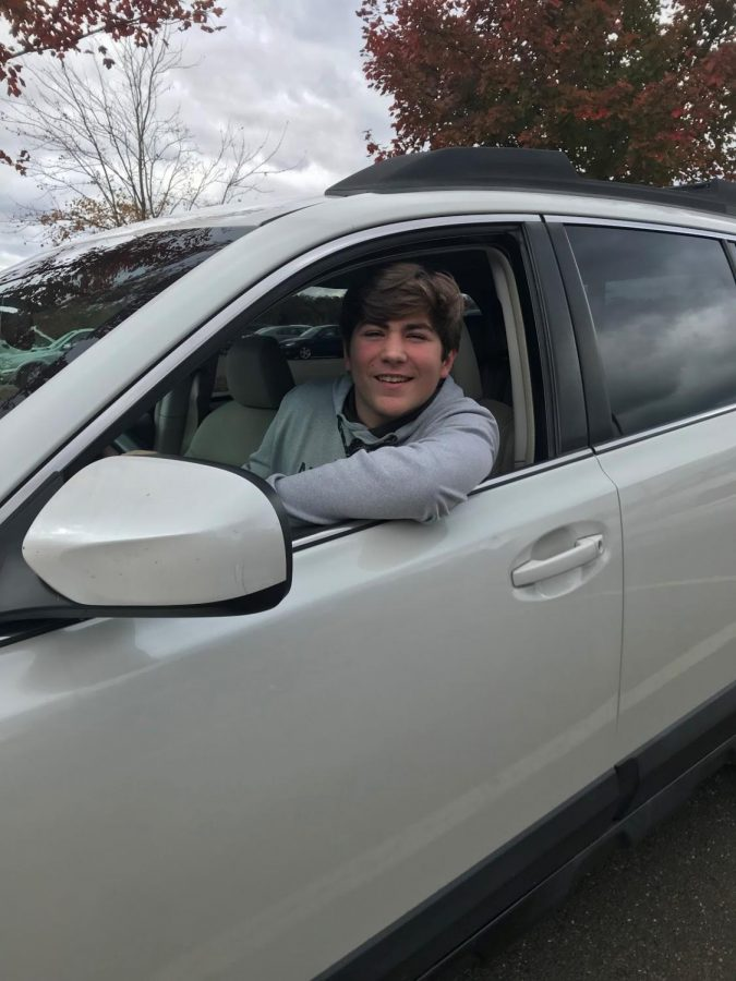 Gearing up to get his driver's license, Joey Shull, sophomore, practices driving as often as he can. Shull currently has his provisional license.