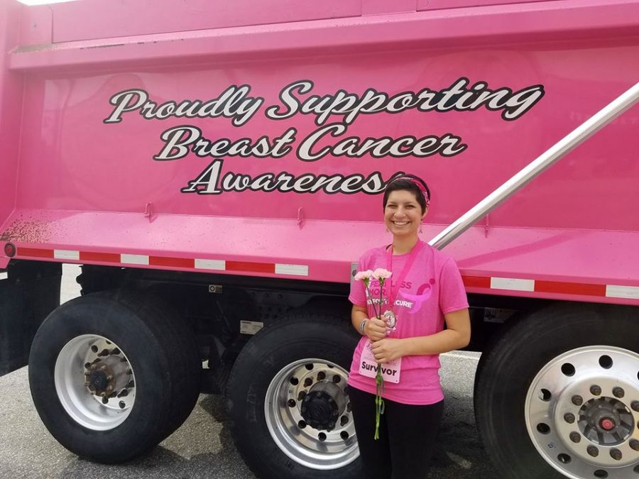 Participating in Race for the Cure, breast cancer survivor Hannah Fakoury raises $2,300 for cancer research.