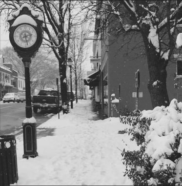 Exploring Old Town Warrenton on Jan. 14, sophomore Rachel Grant wanders the snow covered streets.