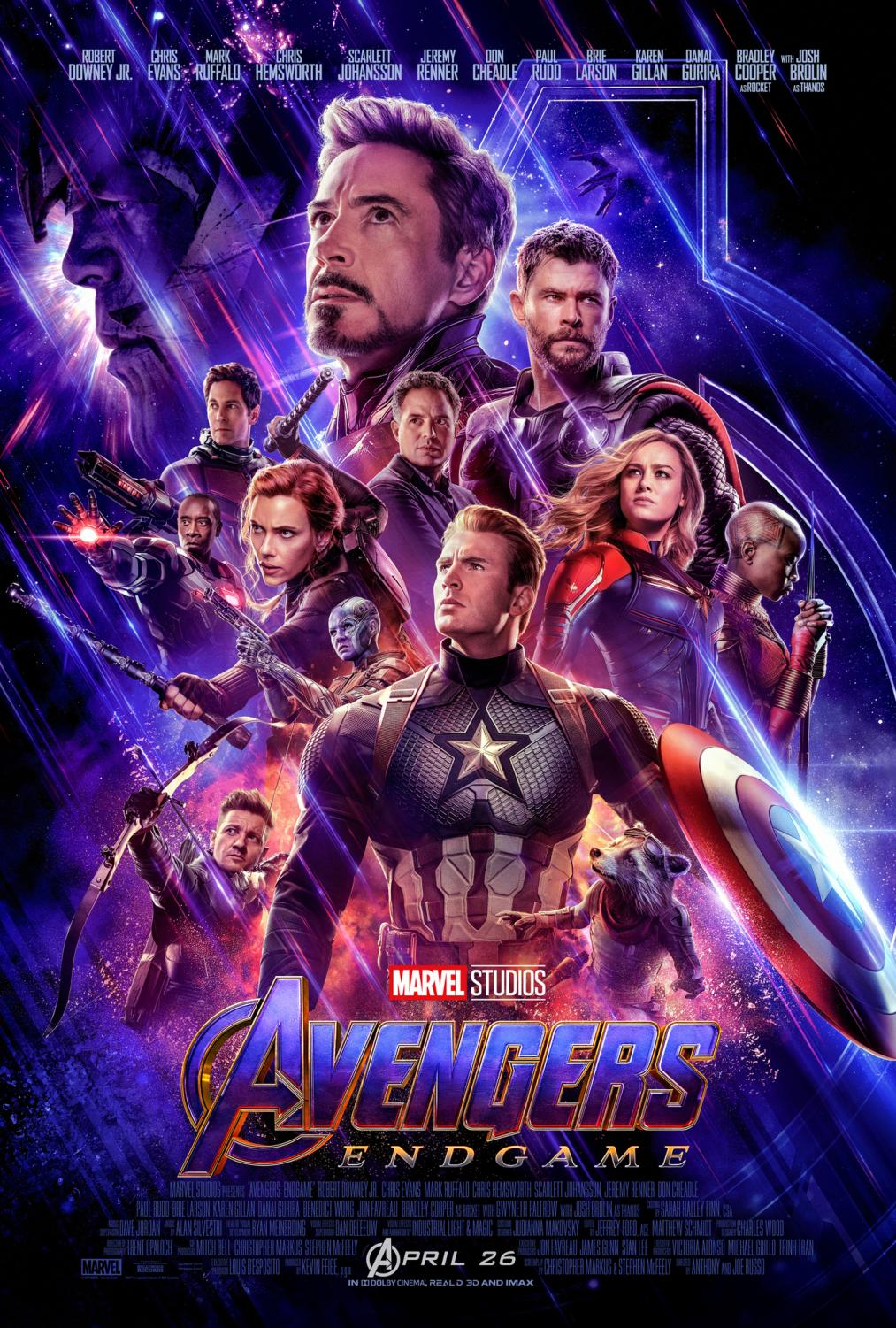 The cast of Avengers: Endgame all star in the the highly anticipated blockbuster that premieres Apr. 26.