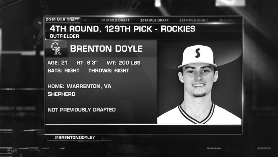 Chosen in the sixth round of the draft, Brenton Doyle gets selected by the Colorado Rockies